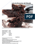La Mejor Receta de Brownies Del Mundo