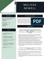 melissa newell resume