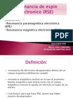 Resonancia de Espin Electronico(RSE)