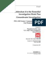 Addendum 4 to the RI WP, Groundwater Investigation, FWA-102 FCS - Final
