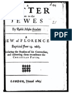 A letter written to the Jewes by Rabbi Moses Scialitti a Jew of Florence baptized June 14. 1663.