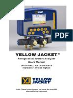 YELLOW JACKET Refrigeration System Analyzer User Manual