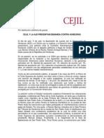 CEJIL Y LA ASOCIACIÓN DE JUECES POR LA DEMOCRACIA PRESENTAN DEMANDA CONTRA HONDURAS