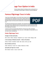 Best Pilgrimage Tour Option in India