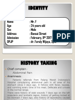Mr F, 24th, Peritonitis