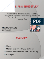 Motion and Time Study Presentation