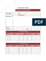 Project Closure Analysis Simple for Free