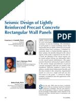 Seismic Design of Lightly Reinforced Precast Concrete Rectangular Wall Panel 2002