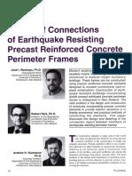 Design of connections or earthquake resisting precast reinforced concrete perimeter frames 1995.pdf