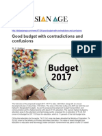 Good Budget With Contradictions and Confusions