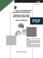Manual Azbil Gas Flow Meter