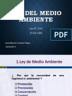 Presentación resumen Ley de Medio Ambiente Bolivia