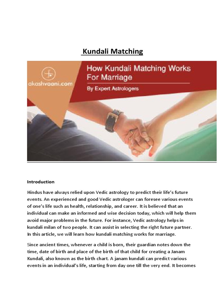 Kundli matchmaking without time of birth