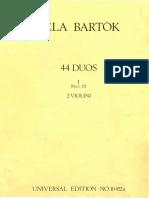 Bartok Violin Duets Part I II