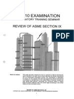 Review of Asme Ix