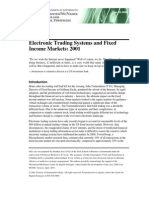 Electronic Trading & FI Markets