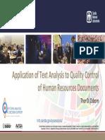Osborn HR Document Quality Control Presentation