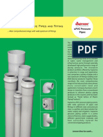 PVc Pressure Pipes and Fittings
