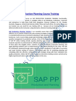 SAP Production Planning Course Training