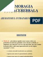 Hemoragia intracerebrala