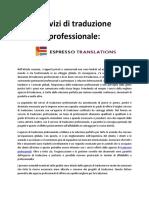 Servizi Di Traduzione Professionale