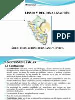 Descentralismo y Regionalización