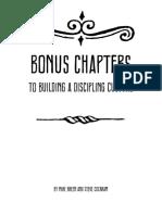 Building a Discipling Culture Appendix