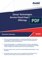Zensar Oracle Service Cloud Fixed Scope Offerings