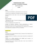 Curso de Estructuras y Artesanias Con Bambú