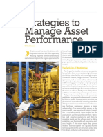Reliablie Plant Strategies Manage Asset Performance