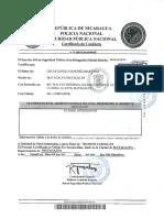 Certificado de Conducta Oscar Sanchez