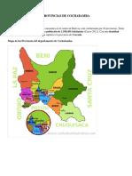 Provincias de Cochabamba