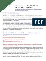 Backup de Log e Reducao de Log SQL