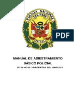 Manual de Adiestramiento Basico Pnp-2013