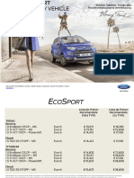 Lista de Preturi Noul Ford EcoSport