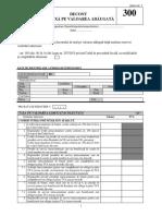 Formularul 300 Decont de Taxa Pe Valoare Adaugata