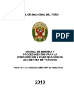 Manual de Intervencion e Investigacion de Transito
