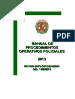 Mapro de Procedimientos Operativos-2013