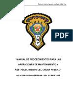 Manual de Operaciones y Orden Publico 2013