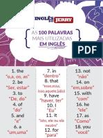 As 100 Palavras Mais Utilizadas Em Inglês (Inglês do Jerry)