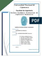 Informe Diseño de Sistema de Riego yanamarca