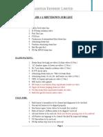 BOILER #1 Annual Shutdown Job List 15 Shift A