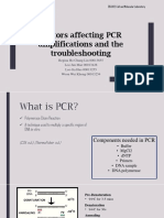 Factors affecting PCR amplifications and the troubleshooting