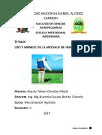 USO Y MANEJO DE LA MOCHILA DE FUMIGAR