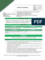 Manual Funciones Administrador Redes Telecomunicaciones