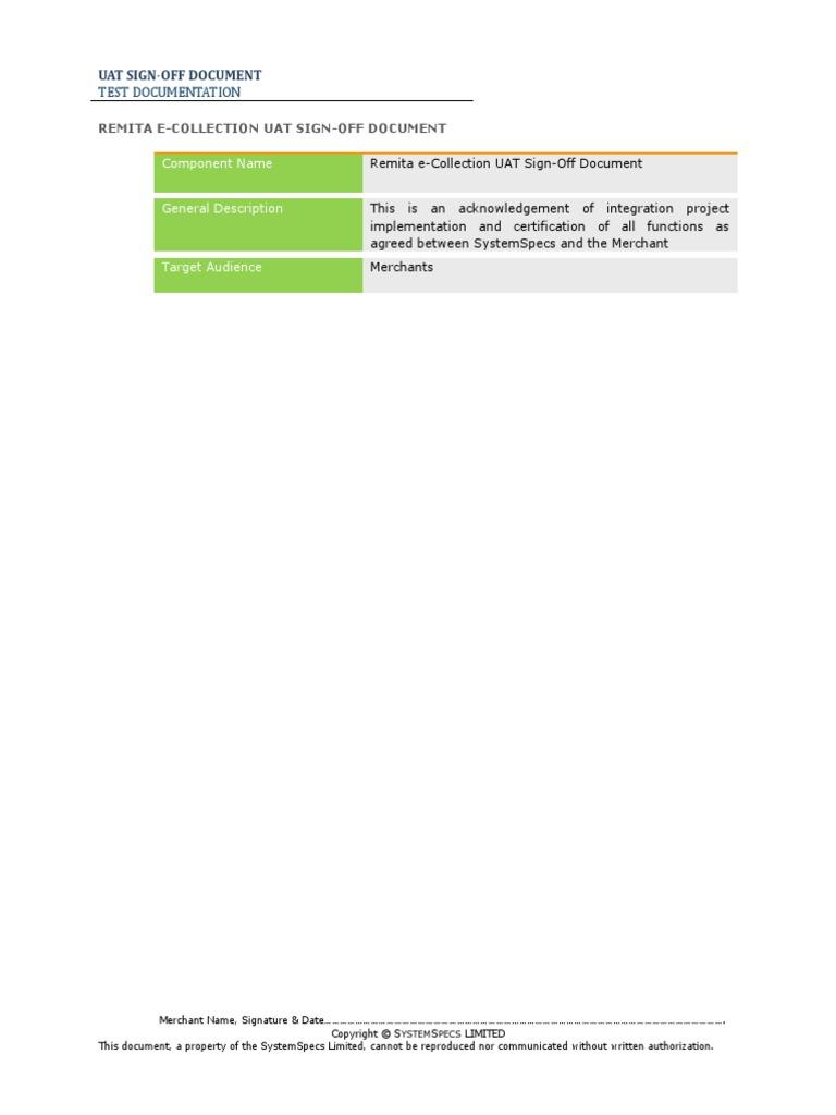 RemitaECollectionUAT_vs1.0 | Financial Transaction | Websites
