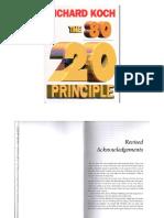 The 80 20 Principle Part 1