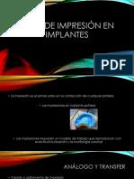 Tipos de Impresión en Implantes