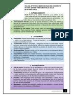 Listado de Las Aptitudes Emocionales de Acuerdo a Las Cinco Habilidades Fundamentales de La Inteligencia Emocional