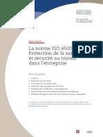 Support-client SQS_La Norme ISO 45001 Protection de La Santé Et Sécurité Au Travail Dans l'Entreprise